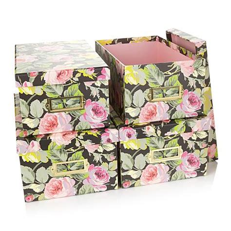 Anna Griffin® Craft Room Set Of 4 Card Boxes  7093914 Hsn