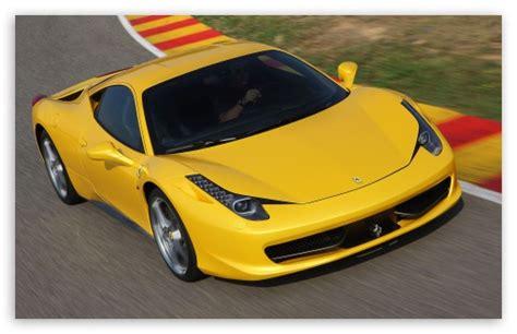 Yellow Ferrari 458 Italia Front Angle 4k Hd Desktop