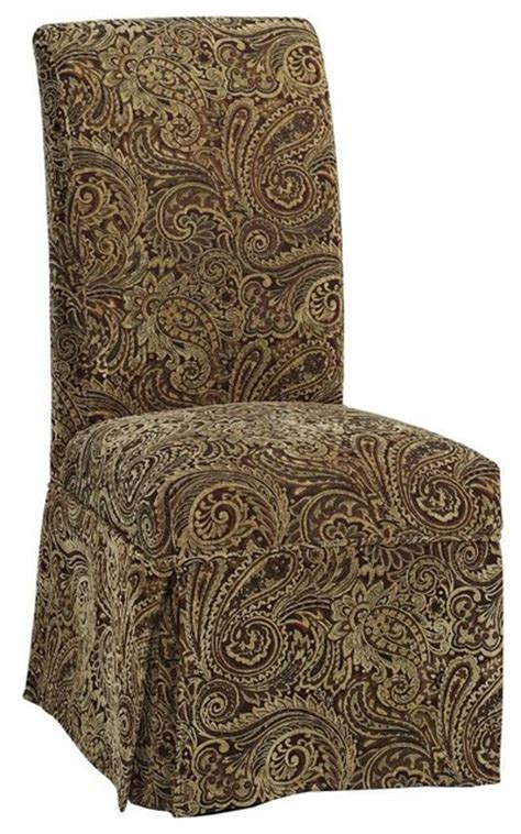 parsons side chair skirted slipcover traditional