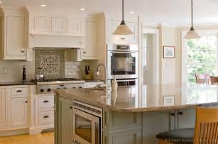 kitchen cabinets and islands traditional two tone cabinets large island by kitchen design ideas loretta j willis designer