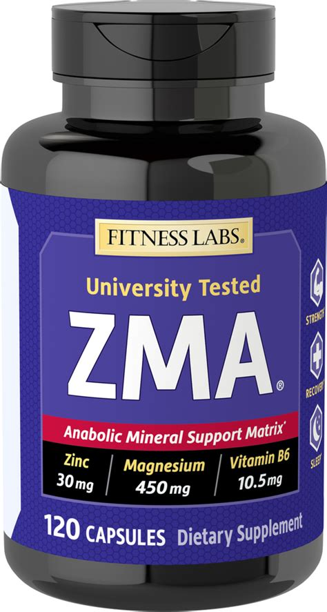 ZMA, 120 Capsules | Piping Rock Health Products