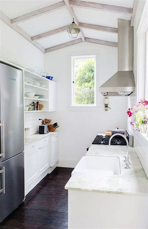 stylish narrow kitchen design ideas   home