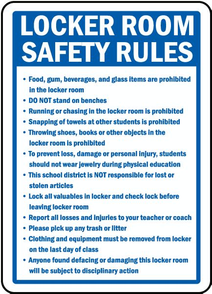 Locker Room Safety Rules Sign F7759  By Safetysigncom. Kitchen Drawer Organizer Ideas. White Kitchen Island With Natural Top. Island Kitchen Meaning. Small Kitchen Design Idea. Small Black Kitchen Sink. See Thru Chinese Kitchen Blue Island. Small White Kitchen Design Ideas. Kitchen Design With White Cabinets
