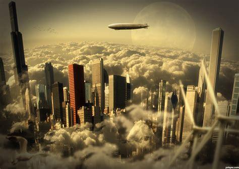 cloudy city picture  divair  cloud cities