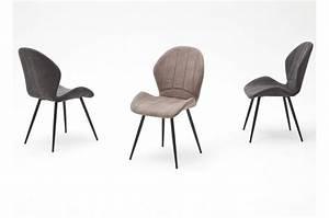 Chaise Tissu Salle A Manger : chaises salle manger tissu et pied anthracite pas cher ~ Dallasstarsshop.com Idées de Décoration