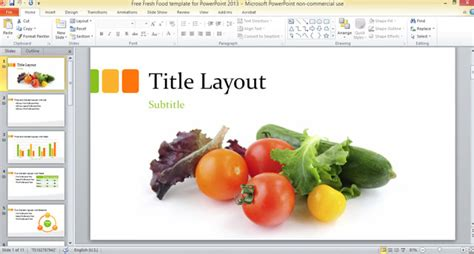 fresh food template  powerpoint