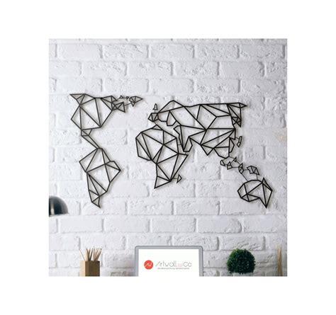 Cadre Carte Du Monde Design by D 233 Co M 233 Tal Carte Monde Artwall And Co