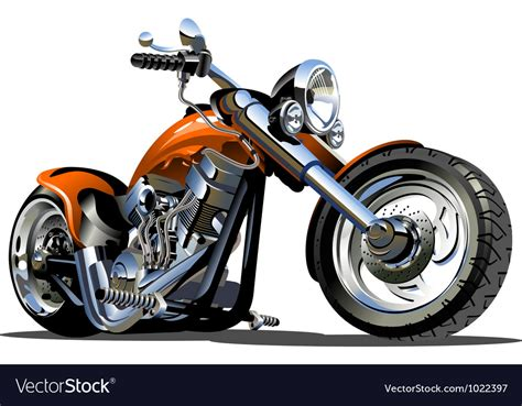 Cartoon Motorcycle Royalty Free Vector Image