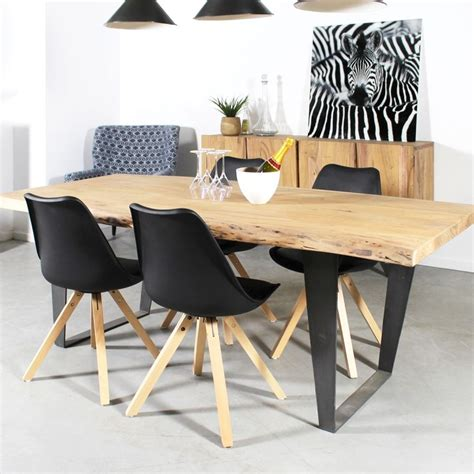 table 224 manger bois massif tronc d arbre id 233 es future maison