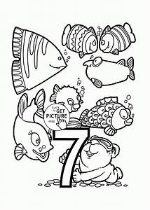 count by number coloring pages - number 7 coloring pages for preschoolers counting numbers
