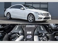 Mercedes EClass Coupe Gets AMG BiTurbo V8 Engine Swap by