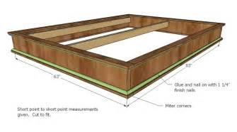 woodworking plans queen size platform bed