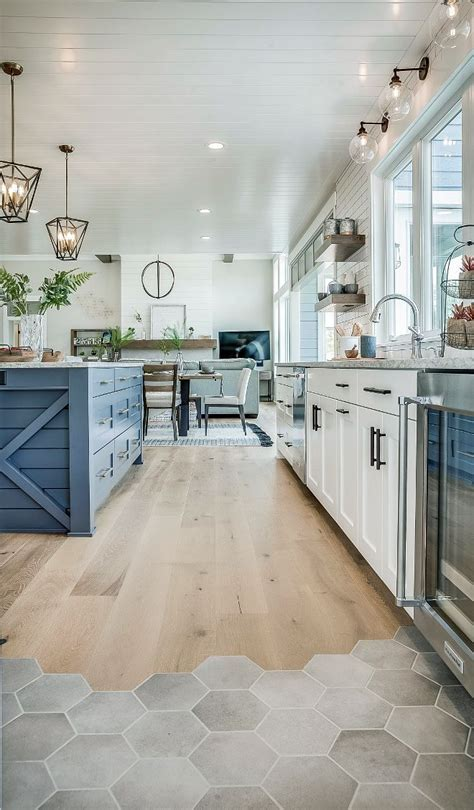 Kitchen Flooring is Ragno Hexagon Tiles and River Shores