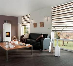 Doppelrollos Für Fenster : sichtschutz im wohnzimmer moderne plissees gardinen und rollos ~ Markanthonyermac.com Haus und Dekorationen