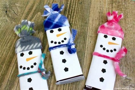 snowman  printable candy bar wrapper template