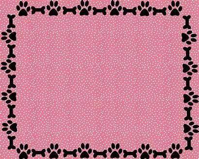 Paw Border Bone Wallpapers A2 Card Dog