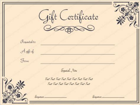 spa gift certificate templates certificate templates