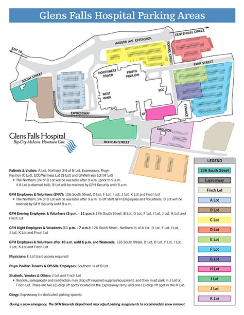 Directions - Parking - Hospital Map | Glens Falls Hospital