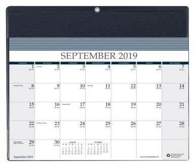 house doolittle month calendar wvinyl holder