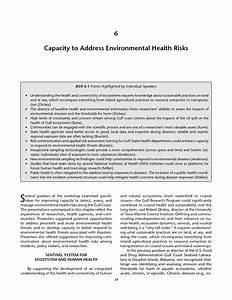 6 Capacity to Address Environmental Health Risks ...