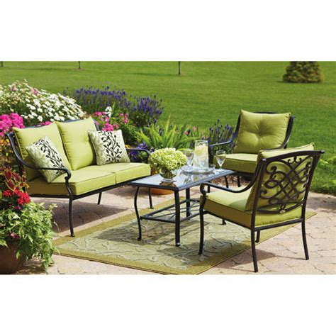 walmart patio cushions hillcrest conversation replacement cushion set garden winds
