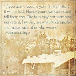 Quotes About Family History
