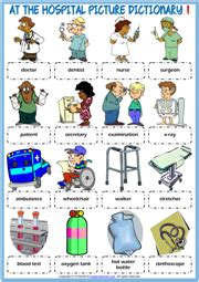 hospital vocabulary esl printable worksheets