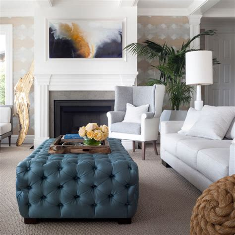 blue oversized chair and ottoman oversized chairs with ottoman living room transitional