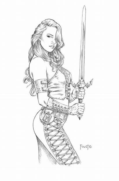Coloring Adult Deviantart Mitchfoust Mirela Drawings Fantasy