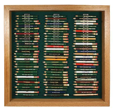 golf pencil display case oak