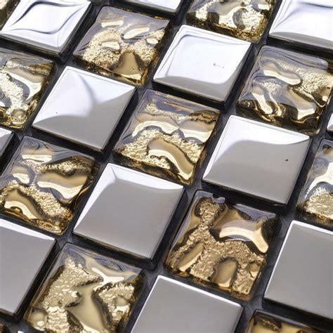 glass tile sheets metal coating tiles mosaic glass