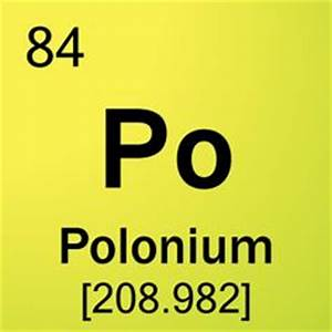 1000+ images about Chemistry - Polonium (Po) 84 on ...