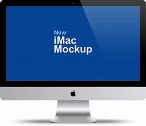 "Apple iMac 27"" Mockup PSD Template - GraphicsFuel"