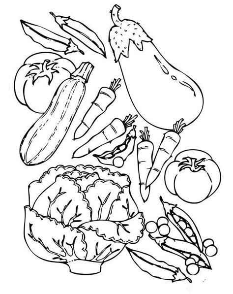 fruits  vegetables coloring pages coloring pages