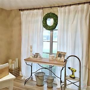 Farmhouse, Style, Cheap, Curtains, Diy, No, Sew, Curtains, For, 5