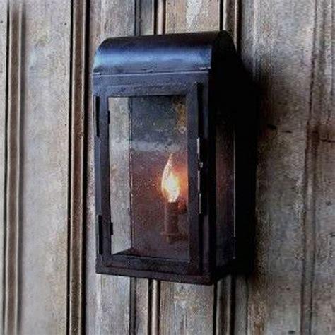 rustic iron wall lantern indoor and outdoor coastal