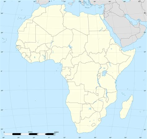 Fileafrica Location Map Without Riverssvg Wikimedia