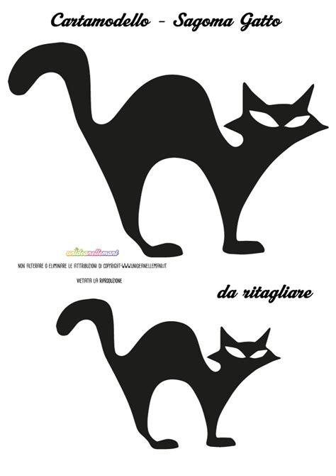sagome gatto da stampare colorare  ritagliare  disegni