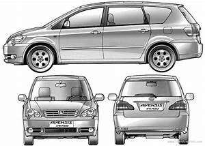 Toyota Verso Dimensions : the blueprints cars toyota toyota avensis verso 2003 ~ Medecine-chirurgie-esthetiques.com Avis de Voitures