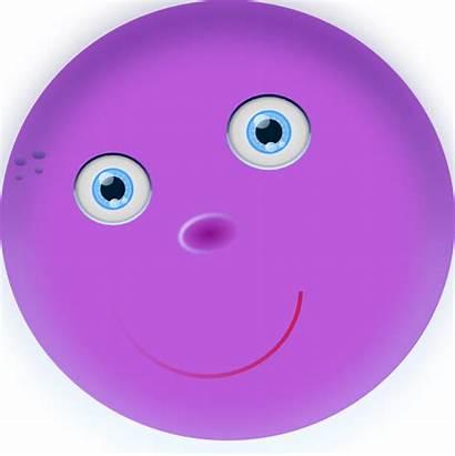 Round Face Purple Clip Clker Clipart Svg