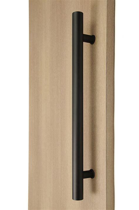 ladder pull handle    black powder stainless