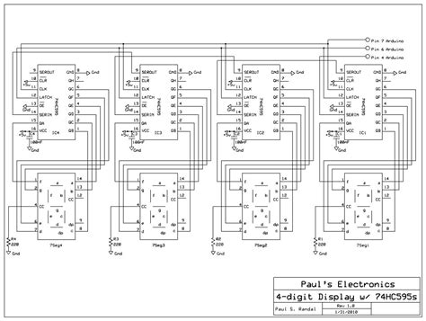 cascading shift registers  drive  segment displays