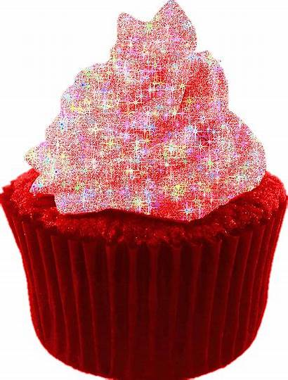 Cupcakes Glitter Birthday Backgrounds Graphics Yummy Animated