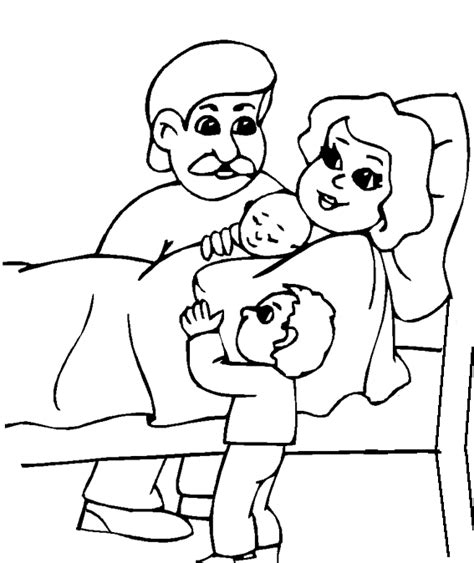 Kleurplaat Een Baby Geboren by Baby Kleurplaten Geboren