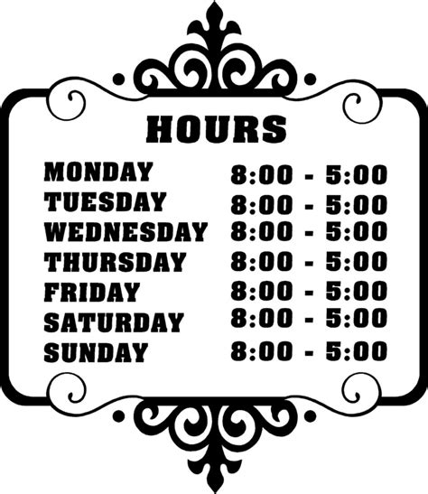 images  printable office hours sign