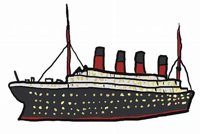 Titanic Ship Clipart Clip Cruise Cargo Ships