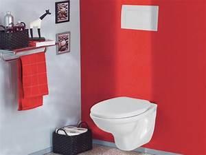 Deco Wc Gris : 6 jolies d cos wc gris et rouge ~ Melissatoandfro.com Idées de Décoration
