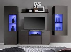 Meuble Gris Anthracite : meuble tv anthracite maison design ~ Teatrodelosmanantiales.com Idées de Décoration