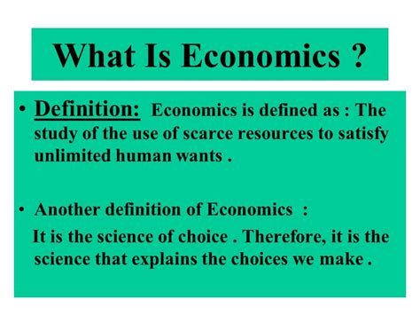 Chapter One The Economic Problem  Ppt Download