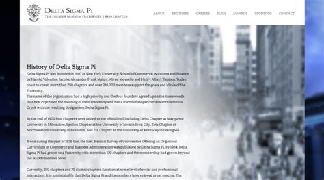 Of Pi Resume Chapter by Delta Sigma Pi Rho Chapter Website 2013 Jdesigns